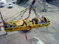 PHOTO - Scappose, Oregon - Lowering a Victim in a Rescue Basket